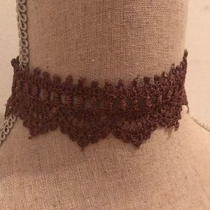 Brown Lace choker